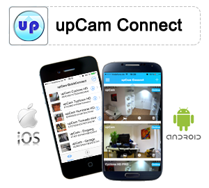 Appli  upCam Connect pour iOS et Android